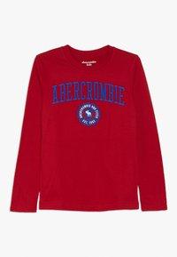 Abercrombie & Fitch - TECH LOGO  - T-shirt à manches longues - red - 0