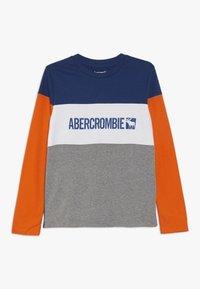 Abercrombie & Fitch - COLOR BLOCK - Longsleeve - blue/grey/orange - 0