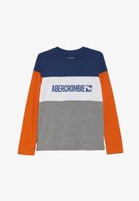 Abercrombie & Fitch - COLOR BLOCK - Longsleeve - blue/grey/orange - 2