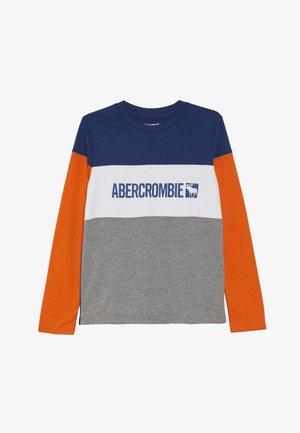 COLOR BLOCK - Bluzka z długim rękawem - blue/grey/orange