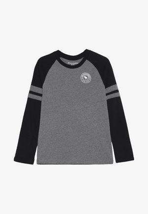 FOOTBALL TEE - T-shirt à manches longues - grey/black
