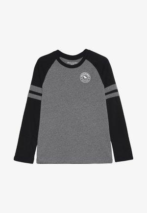 FOOTBALL TEE - Bluzka z długim rękawem - grey/black