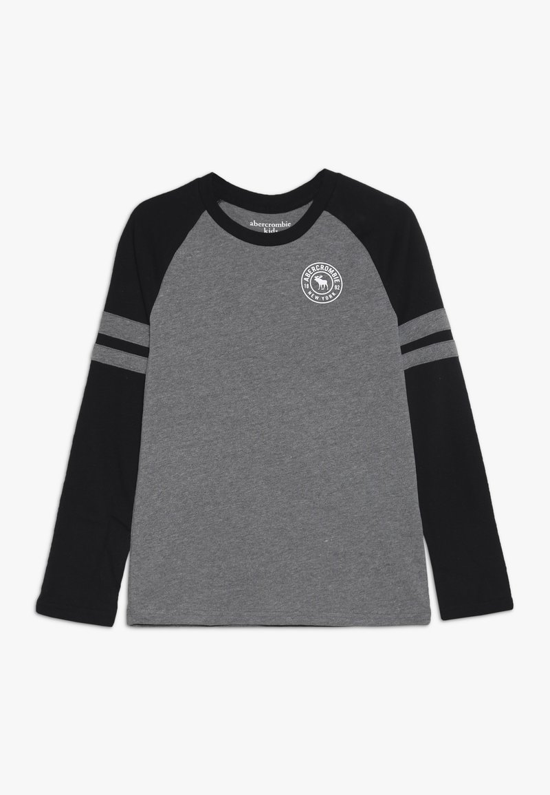 Abercrombie & Fitch - FOOTBALL TEE - Long sleeved top - grey/black