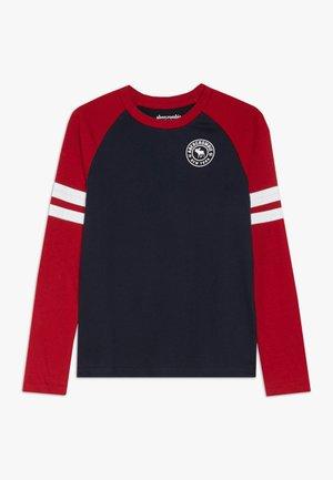 FOOTBALL TEE - Longsleeve - navy/red