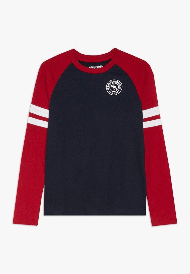 FOOTBALL TEE - Long sleeved top - navy/red