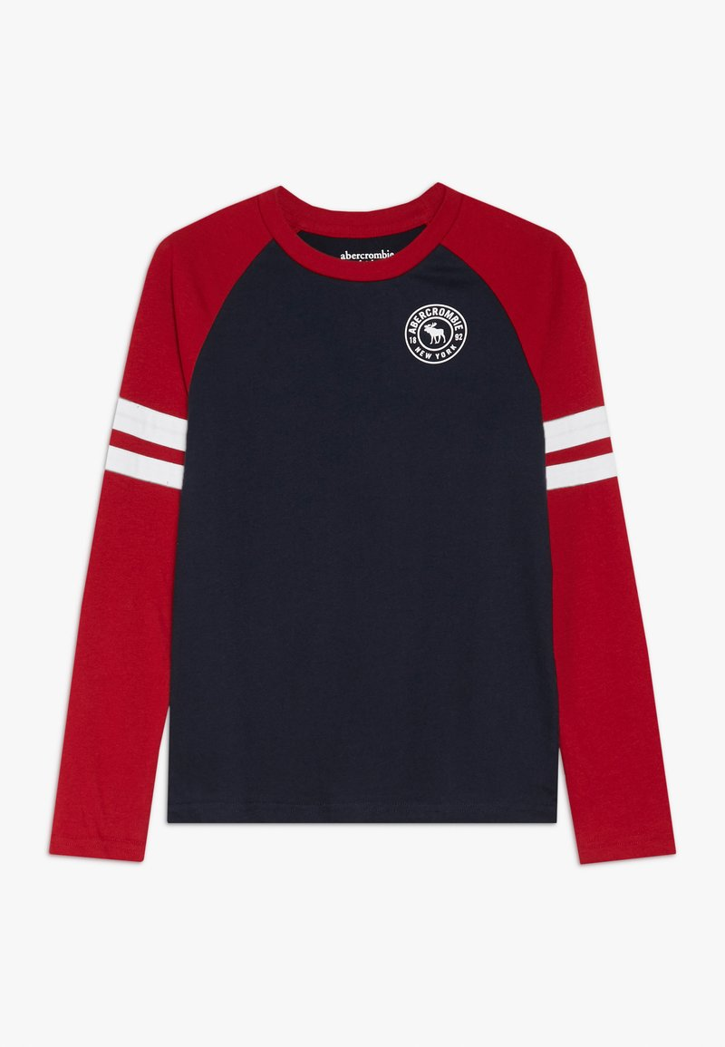 Abercrombie & Fitch - FOOTBALL TEE - T-shirt à manches longues - navy/red