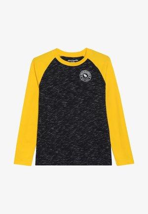 FOOTBALL TEE - Camiseta de manga larga - black/yellow