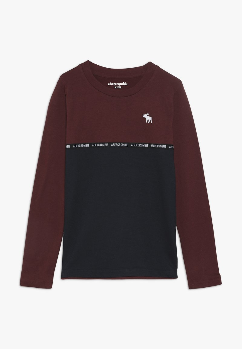 Abercrombie & Fitch - SLEEVETAPE - Long sleeved top - burg