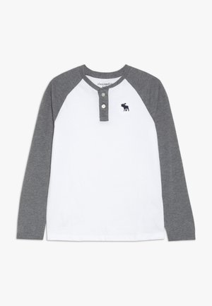RAGLAN HENLEY  - Long sleeved top - white/grey