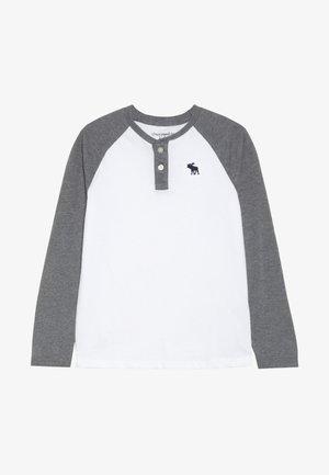 RAGLAN HENLEY  - Bluzka z długim rękawem - white/grey
