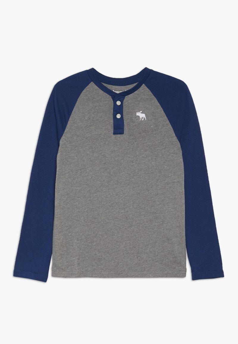Abercrombie & Fitch - RAGLAN HENLEY  - Langarmshirt - grey/blue