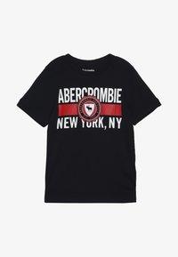 Abercrombie & Fitch - VARSITY PRINT LOGO - T-shirt imprimé - navy - 2