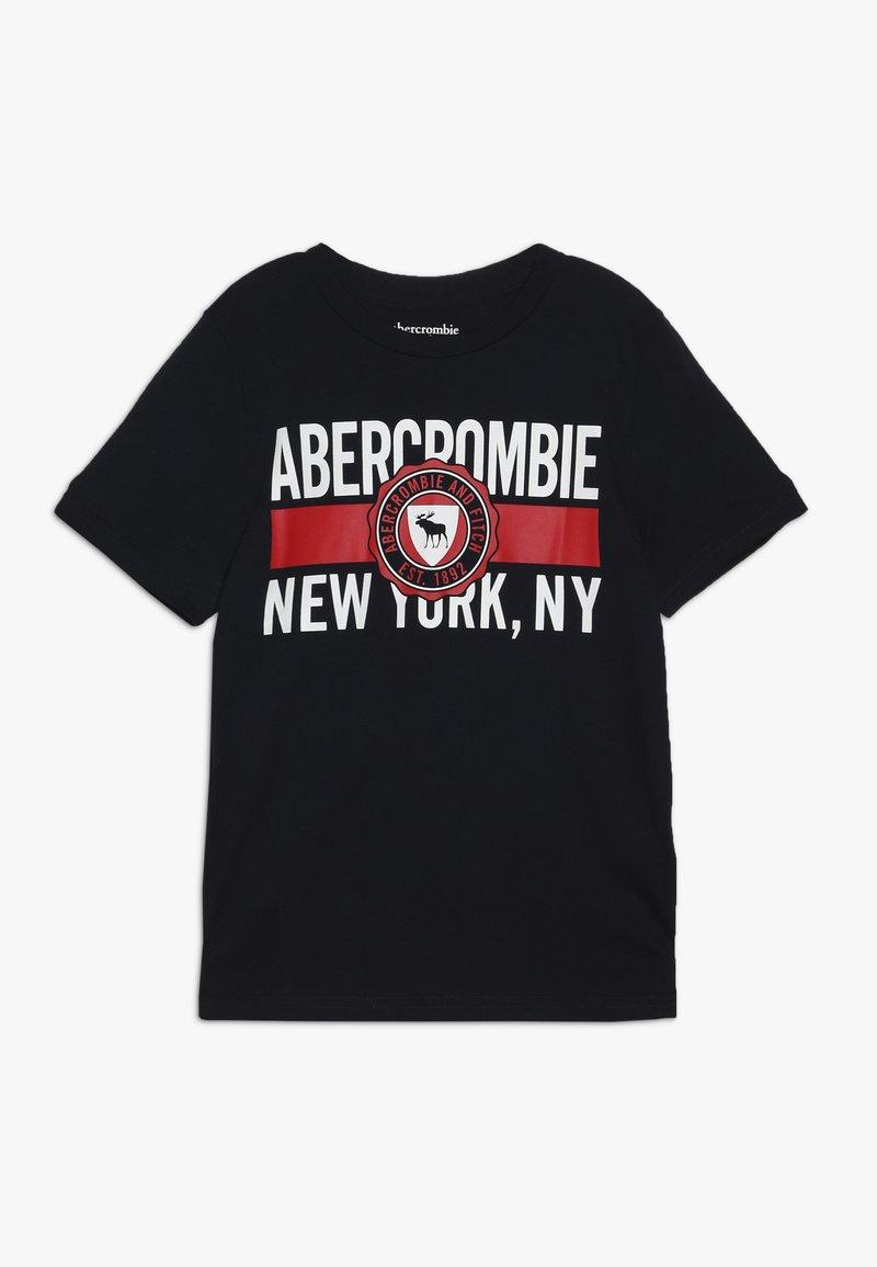 Abercrombie & Fitch - VARSITY PRINT LOGO - T-shirt imprimé - navy