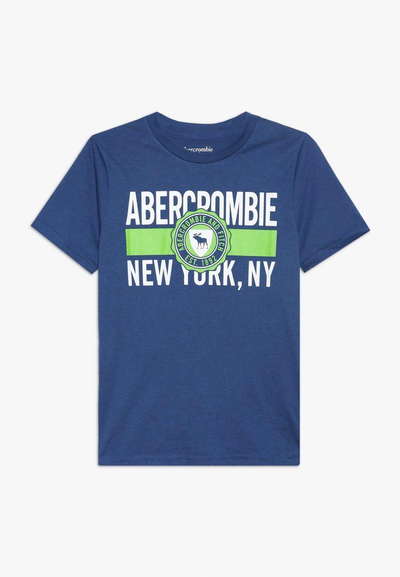Abercrombie & Fitch - VARSITY PRINT LOGO - T-Shirt print - blue