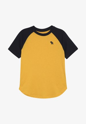NOVELTY BASIC - T-shirt imprimé - yellow raglan