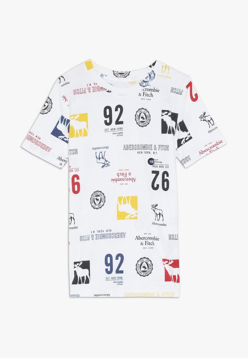 Abercrombie & Fitch - PATTERN - T-shirts print - white