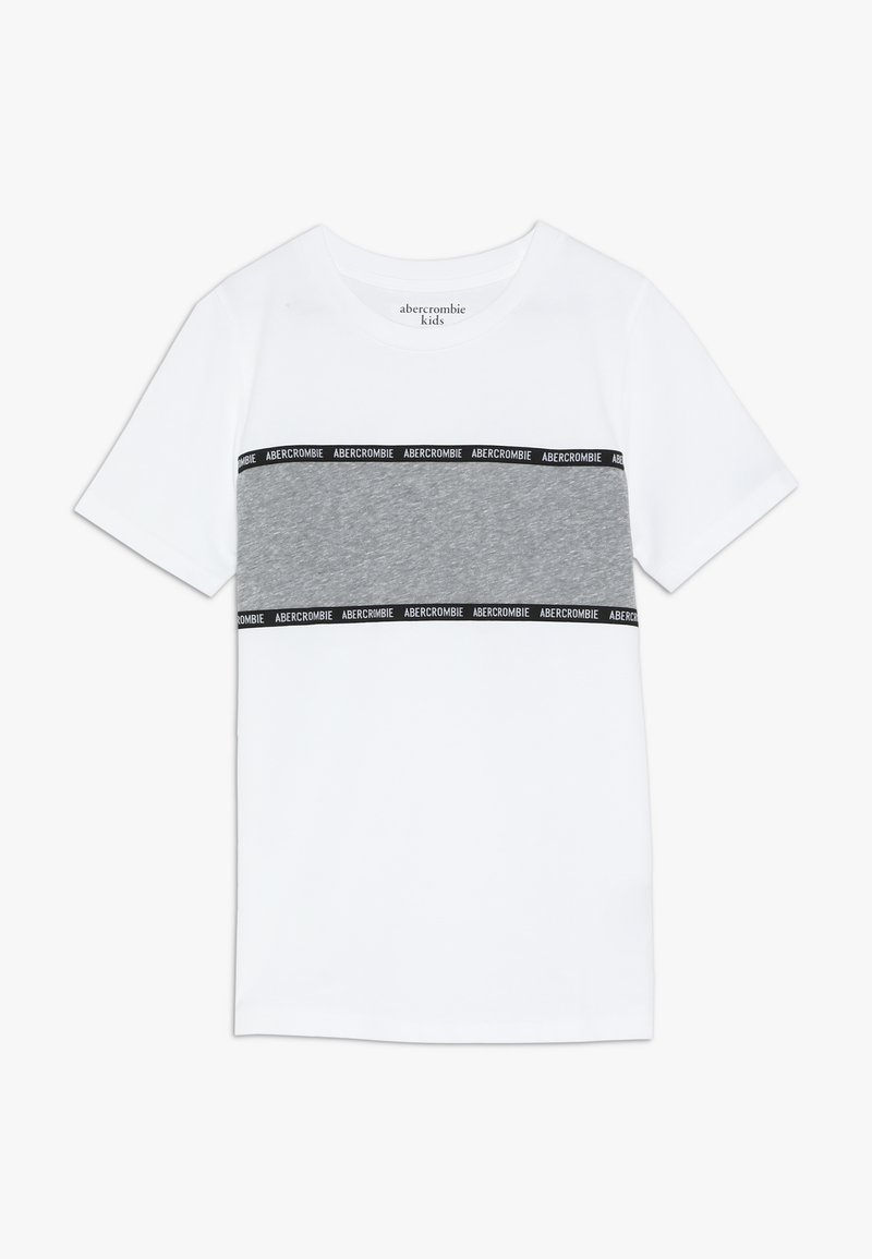 Abercrombie & Fitch - LOGO TAPE - T-Shirt print - white/grey