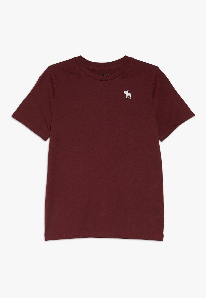 Abercrombie & Fitch - CORE CREW  - Basic T-shirt - bordeaux