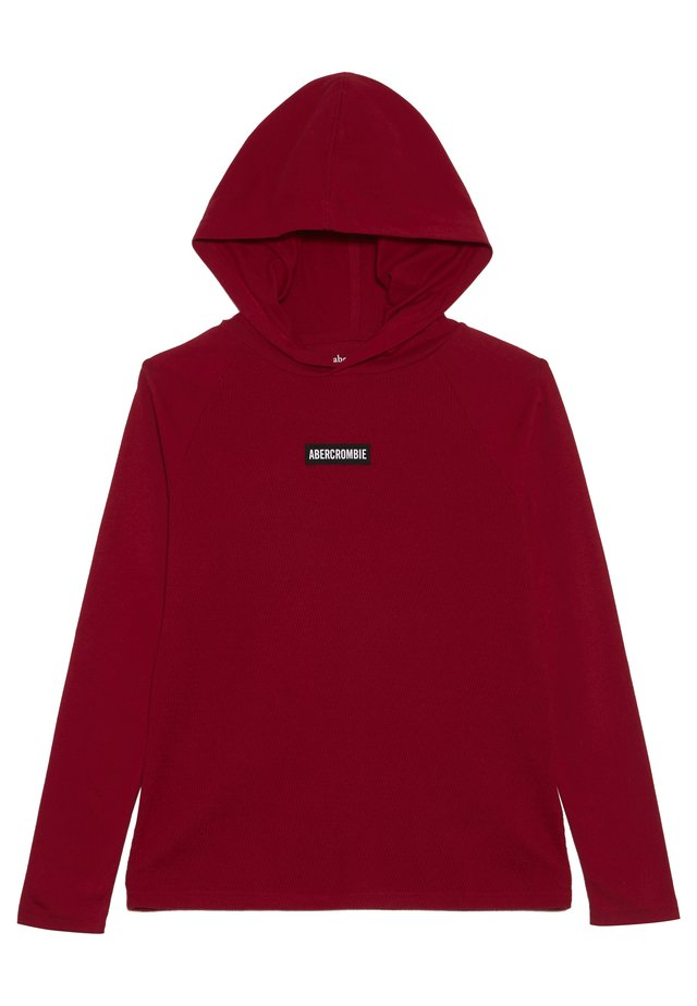 COZY HOODED TEE - Huppari - red