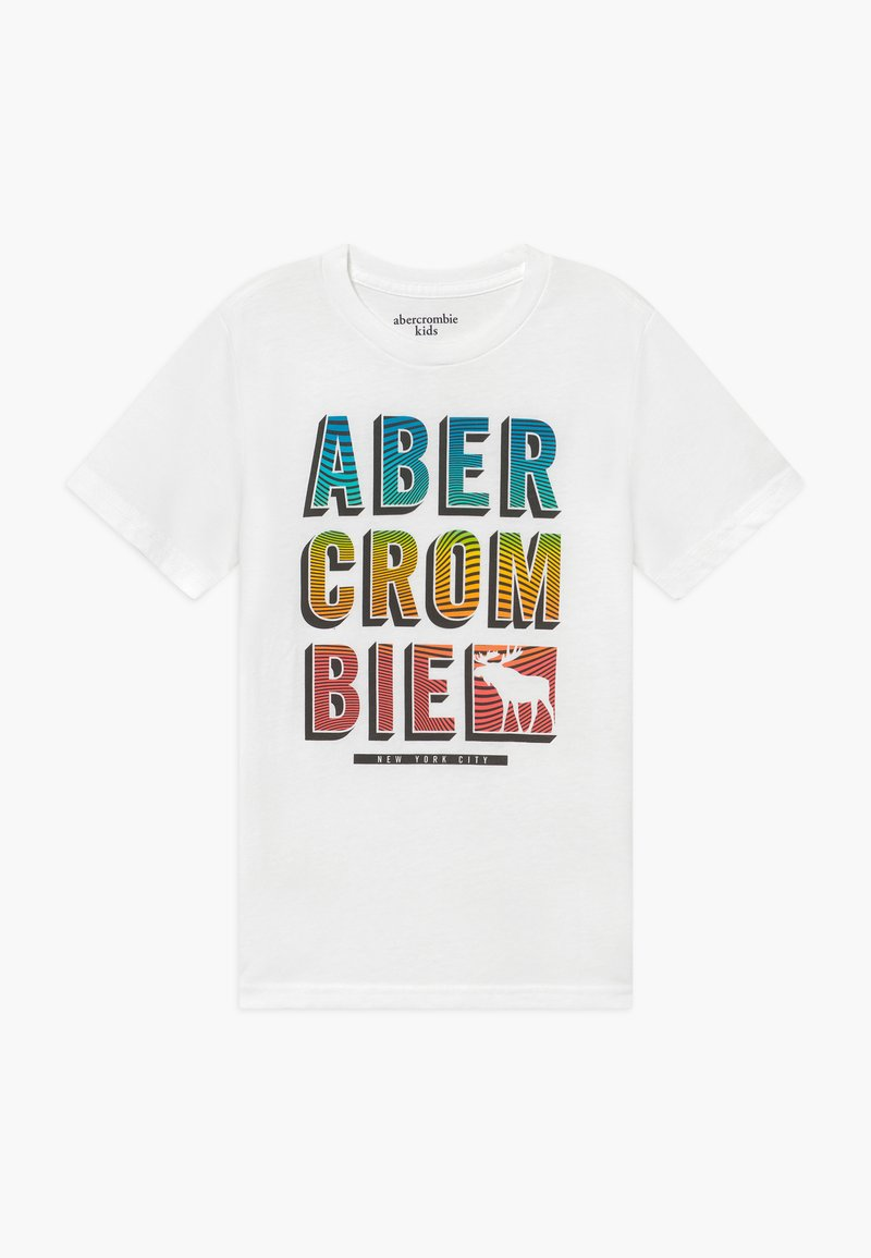 Abercrombie & Fitch - TRIPPY LOGO - Print T-shirt - white