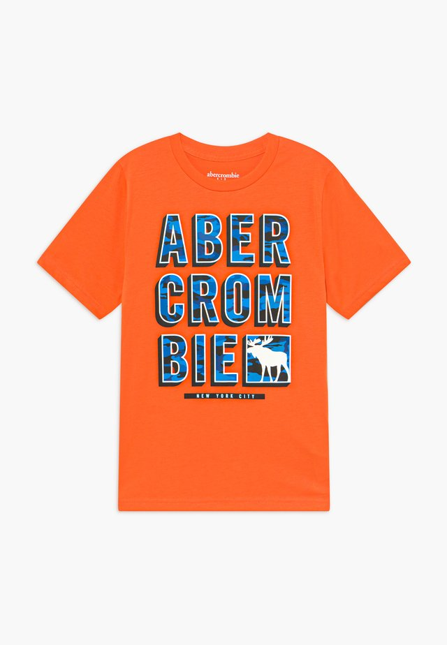 TRIPPY LOGO - T-Shirt print - orange