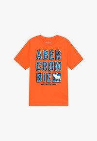 Abercrombie & Fitch - TRIPPY LOGO - Triko spotiskem - orange - 2