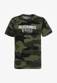 Abercrombie & Fitch - TECH LOGO - T-shirt print - olive - 0