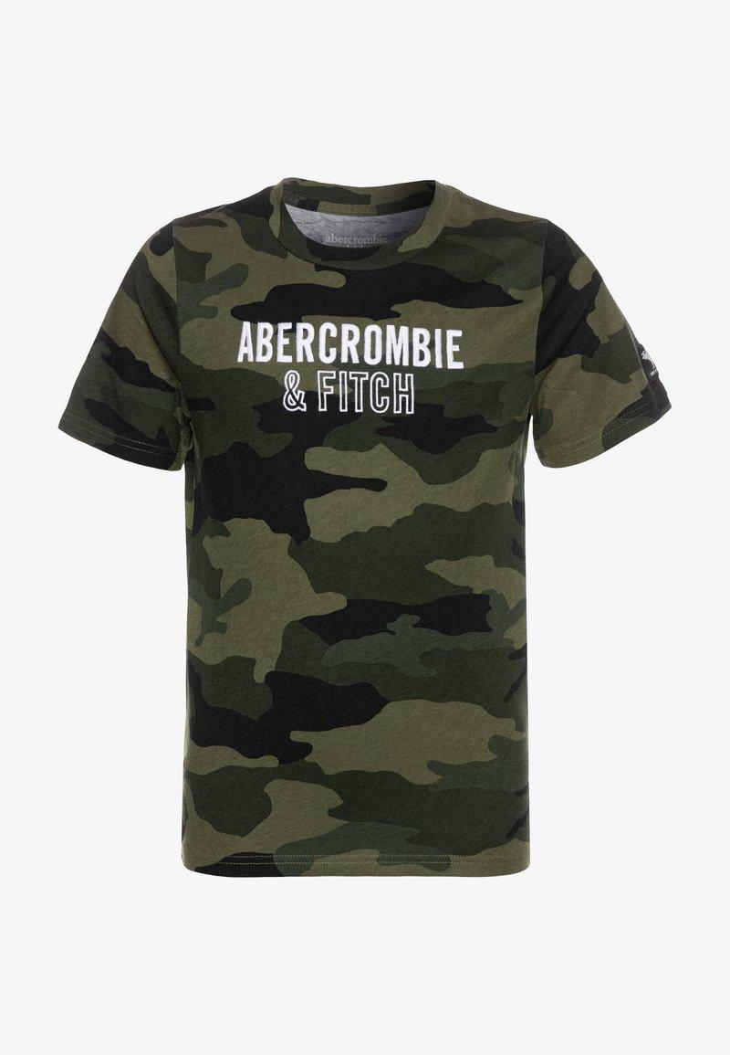 Abercrombie & Fitch - TECH LOGO - T-shirt print - olive