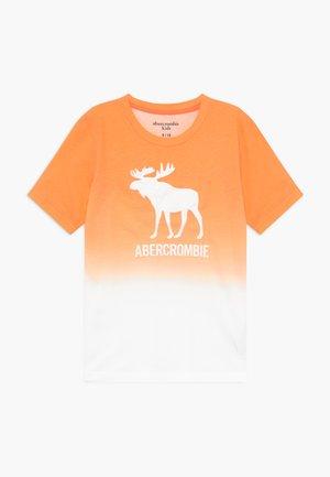 TECH LOGO - T-shirt print - orange