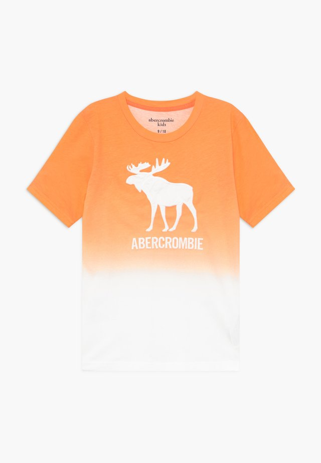 TECH LOGO - Print T-shirt - orange