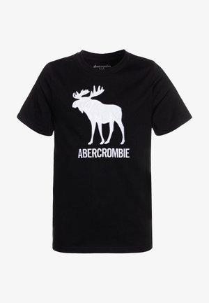 TECH LOGO - Print T-shirt - black