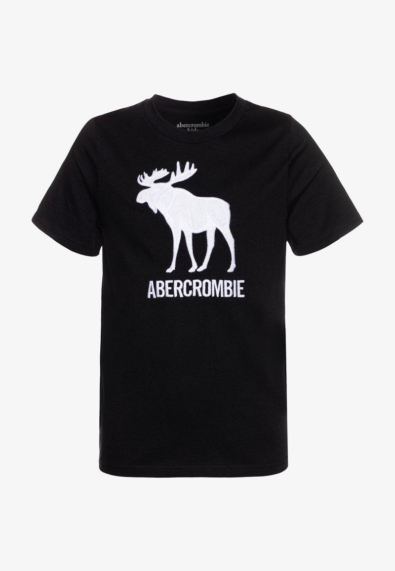 Abercrombie & Fitch - TECH LOGO - T-shirt z nadrukiem - black