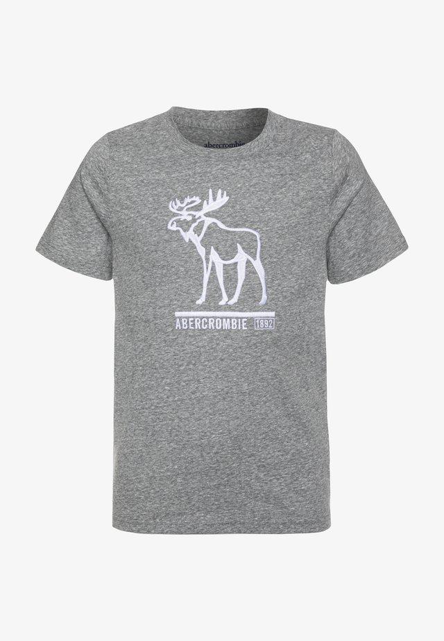 TECH LOGO - Print T-shirt - grey