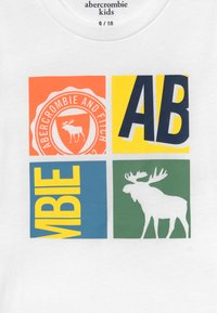 Abercrombie & Fitch - LOGO - T-shirt print - white - 3