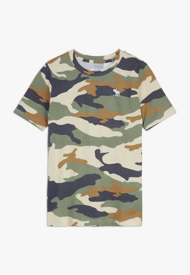 Abercrombie & Fitch - BASIC NOVELTY  - Print T-shirt - khaki