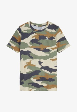 BASIC NOVELTY  - T-shirt z nadrukiem - khaki