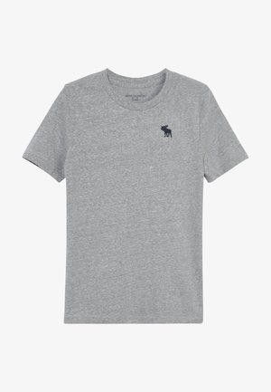 BASIC SOLID TEE - T-shirt - bas - grey