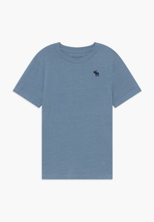 BASIC SOLID TEE - Camiseta básica - texural blue shadow