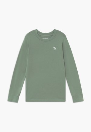 BASIC CREW - Camiseta de manga larga - green
