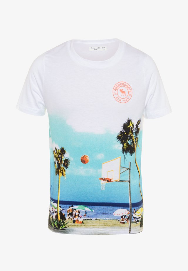 PHOTOREAL - T-shirt con stampa - white