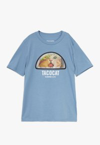 Abercrombie & Fitch - INTERACTIVE  - Print T-shirt - blue - 0