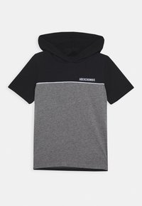 Abercrombie & Fitch - HOODED TEE  - Print T-shirt - black/grey - 0