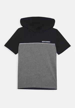 HOODED TEE  - Print T-shirt - black/grey