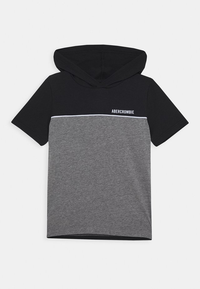 HOODED TEE  - T-shirt med print - black/grey