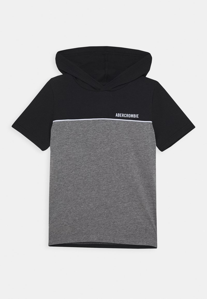 Abercrombie & Fitch - HOODED TEE  - Print T-shirt - black/grey