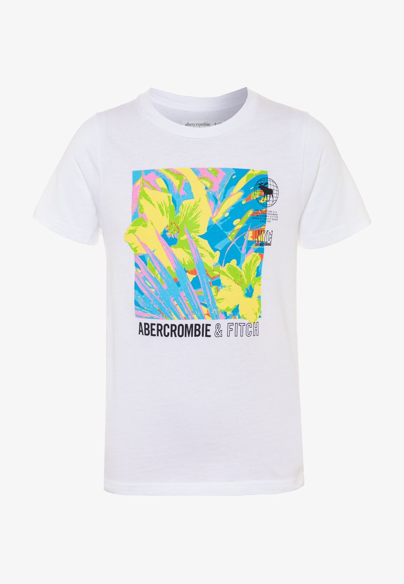 Abercrombie & Fitch - TERTIARY PRINT LOGO - T-shirt con stampa - white