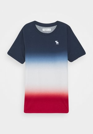 DYE EFFECTS - Print T-shirt - navy/white/red