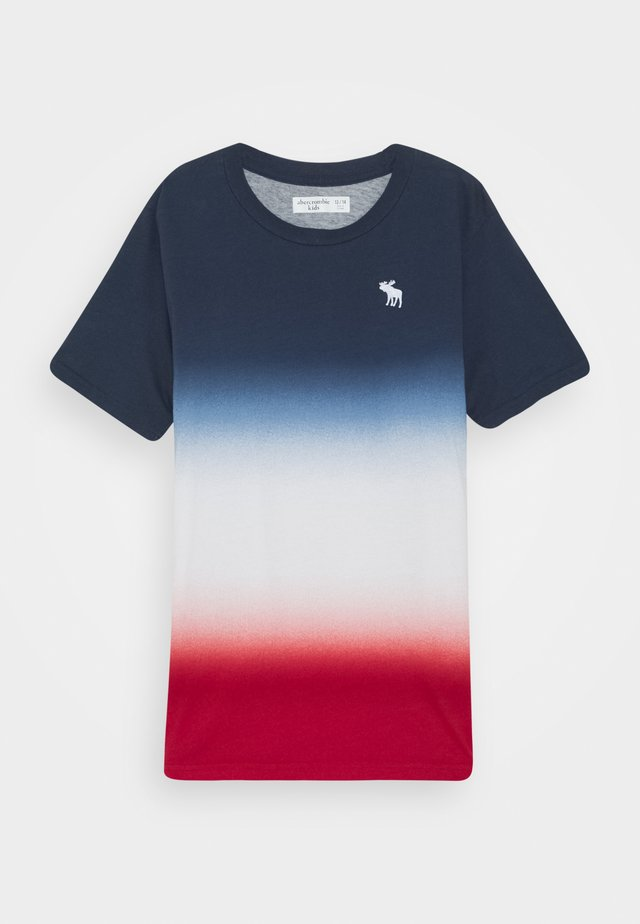 DYE EFFECTS - T-shirt med print - navy/white/red