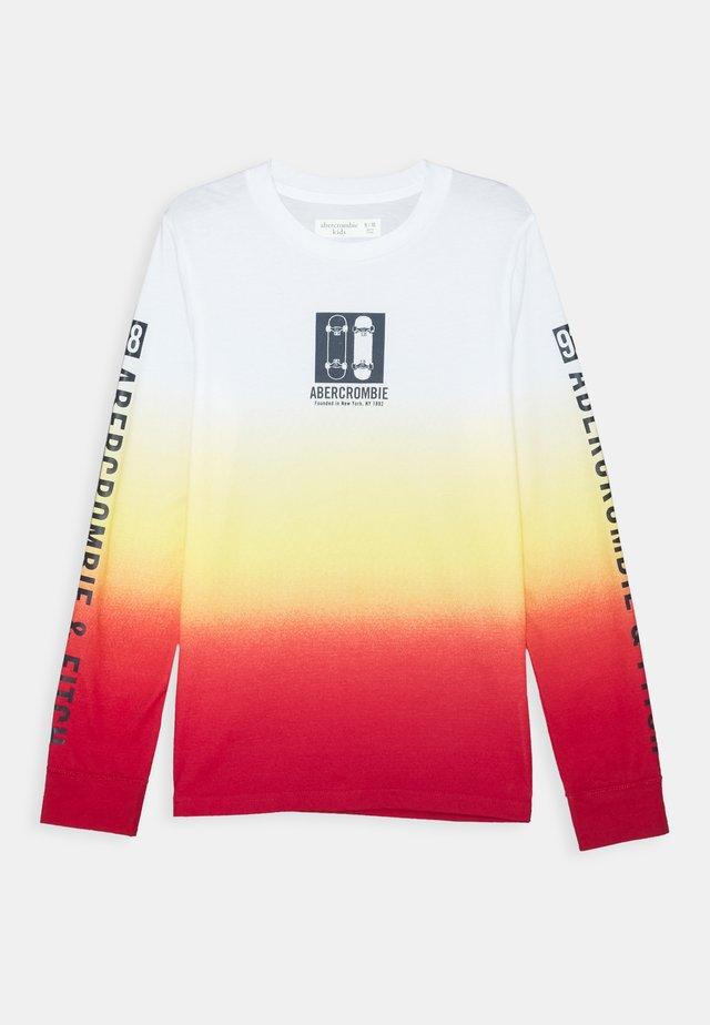 VINTAGE PRINT LOGO - T-shirt à manches longues - orange