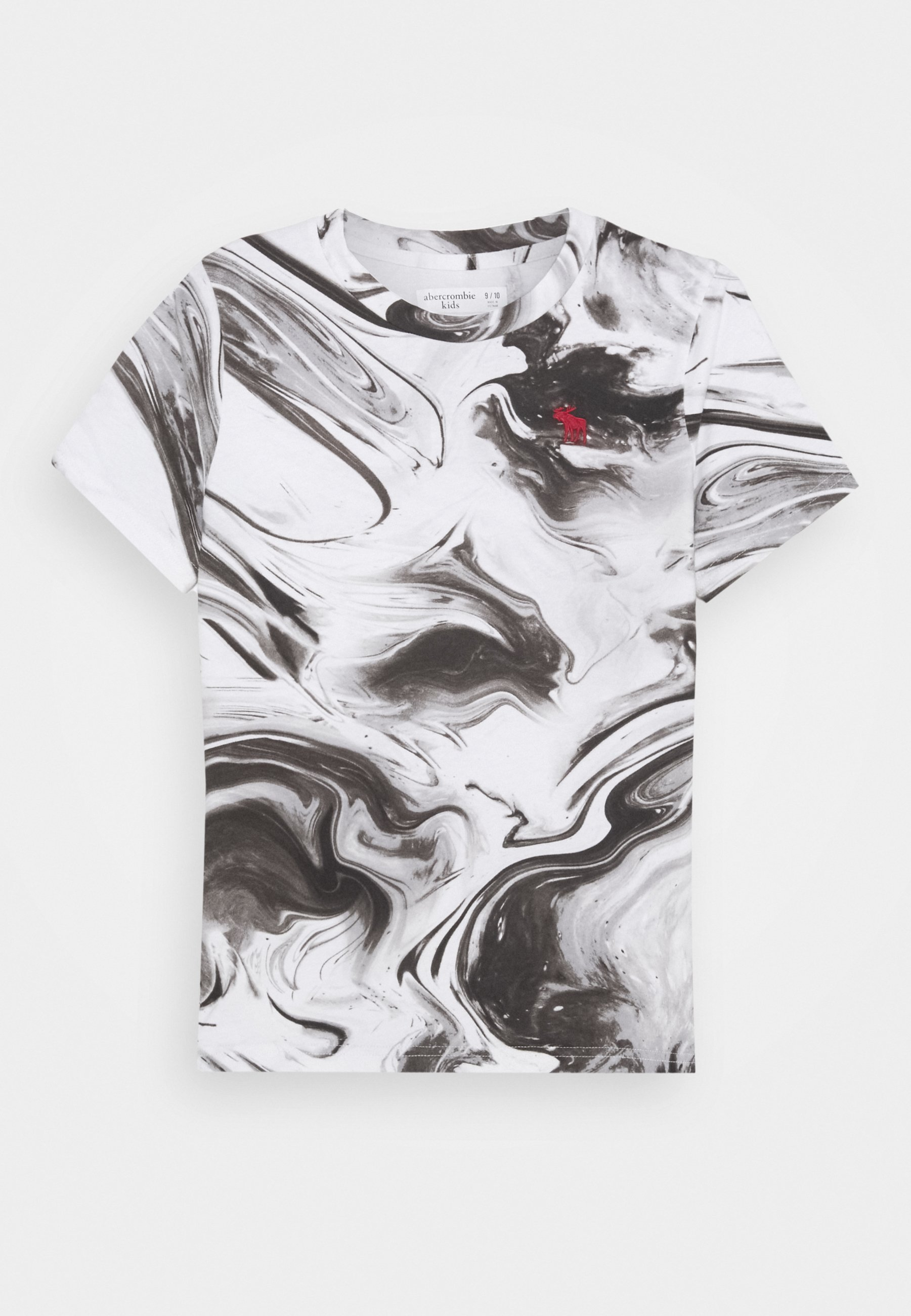 Abercrombie & Fitch DYE EFFECTS T shirt imprimé white